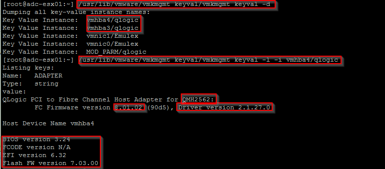 ESXi: How to find HBA/NIC driver/Firmware version-来自沈超飞的IT博客 第4张