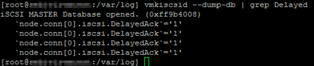 Disable Delayed Ack for iSCSI on ESXi, not always working