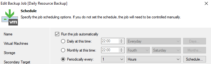 Veeam Backup Job twice a day, not at 12 AM and 12 PM